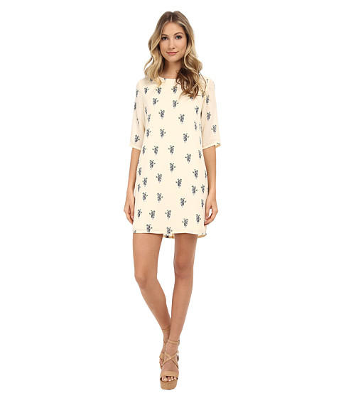 Brigitte Bailey - Lola Shift Dress (Cream Panda Bear) Women