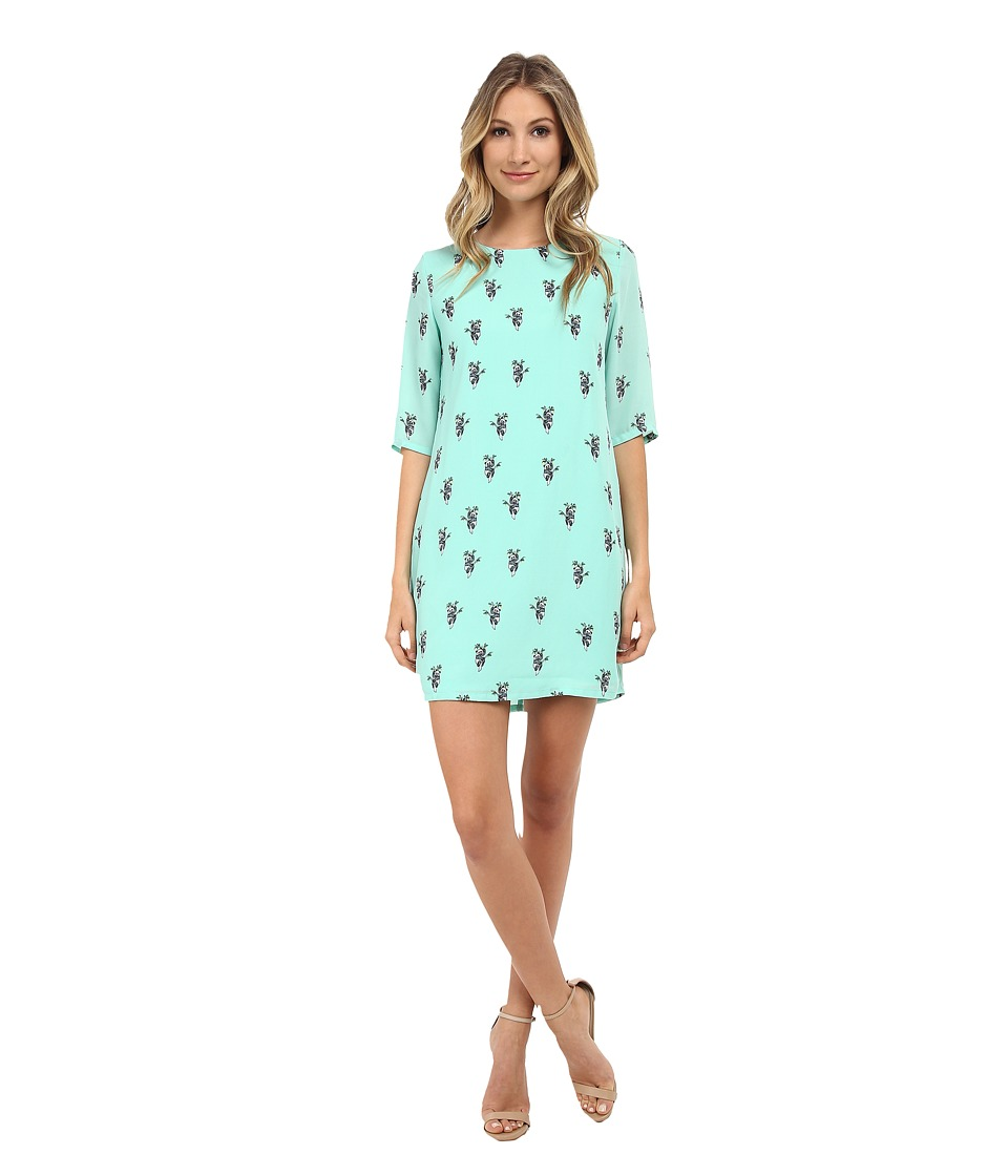 Brigitte Bailey - Lola Shift Dress (Green Panda Bear) Women's Dress