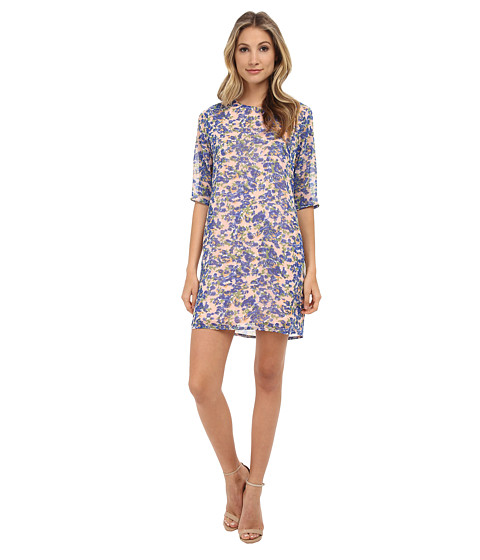 Brigitte Bailey - Lola Shift Dress (Pink Floral Blur) Women's Dress