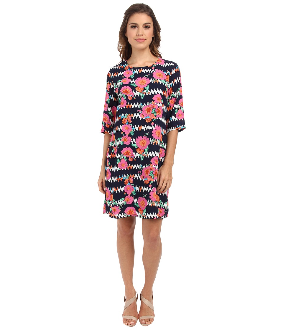 Brigitte Bailey - Lola Shift Dress (Floral Zigzag) Women's Dress