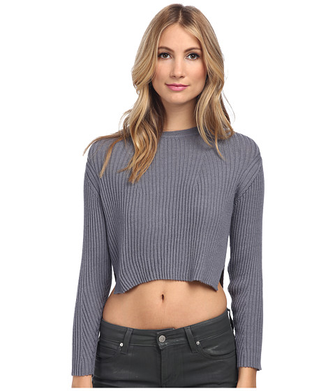 Theory - Kamboa Top (Steel) Women's Sweater