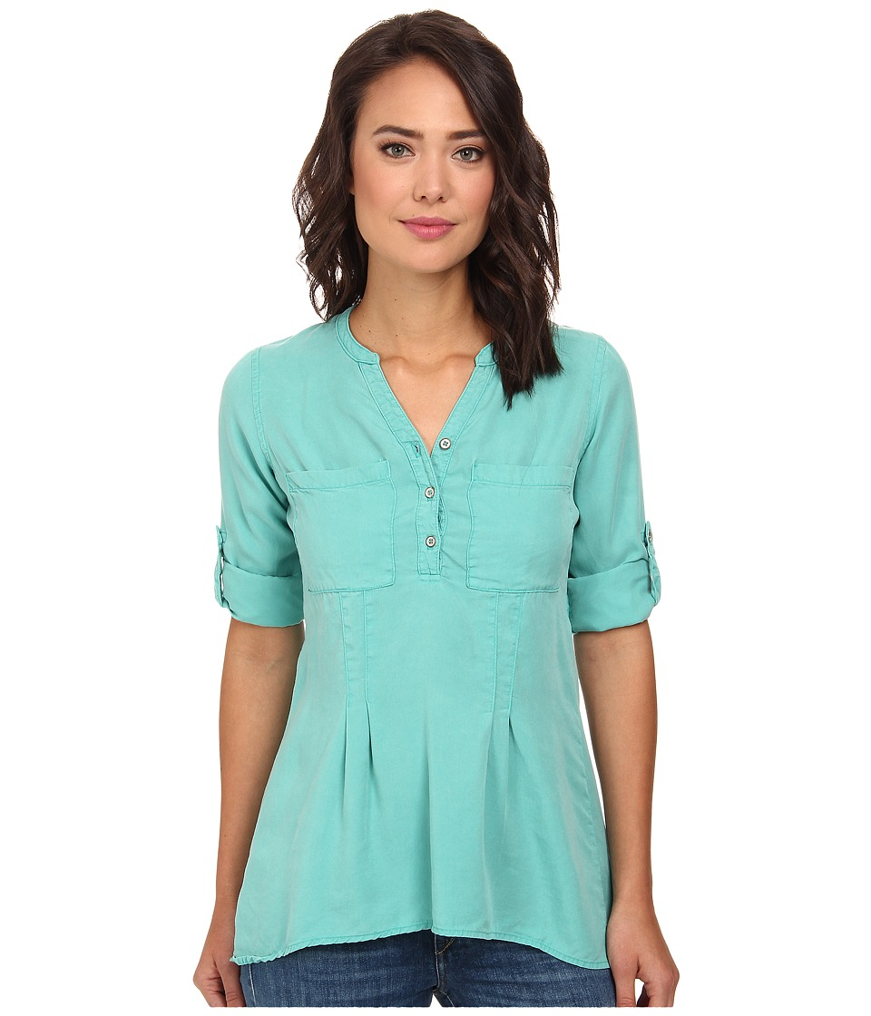 rsvp - Tencel Henley Top (Jewel) Women's Clothing
