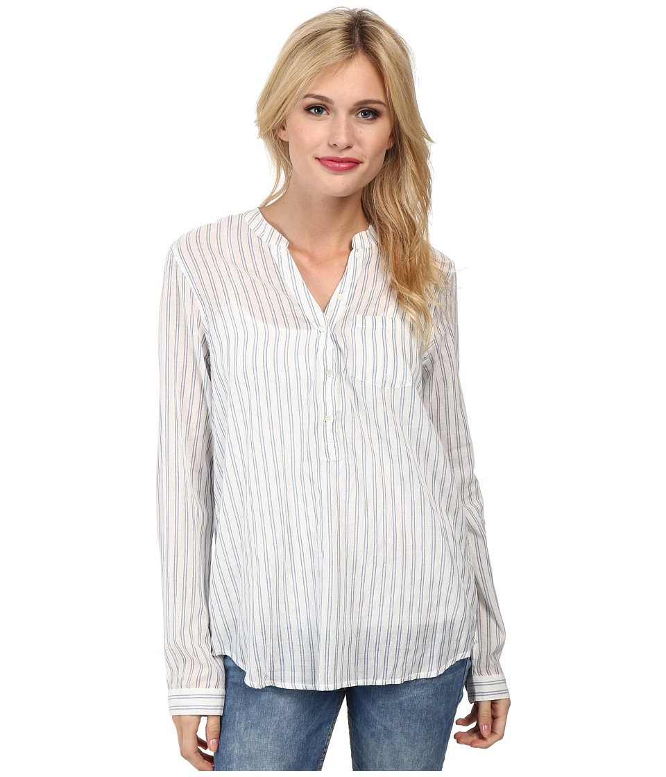 Paige - Prescott Shirt (White/Seagull Blue) Women's Clothing
