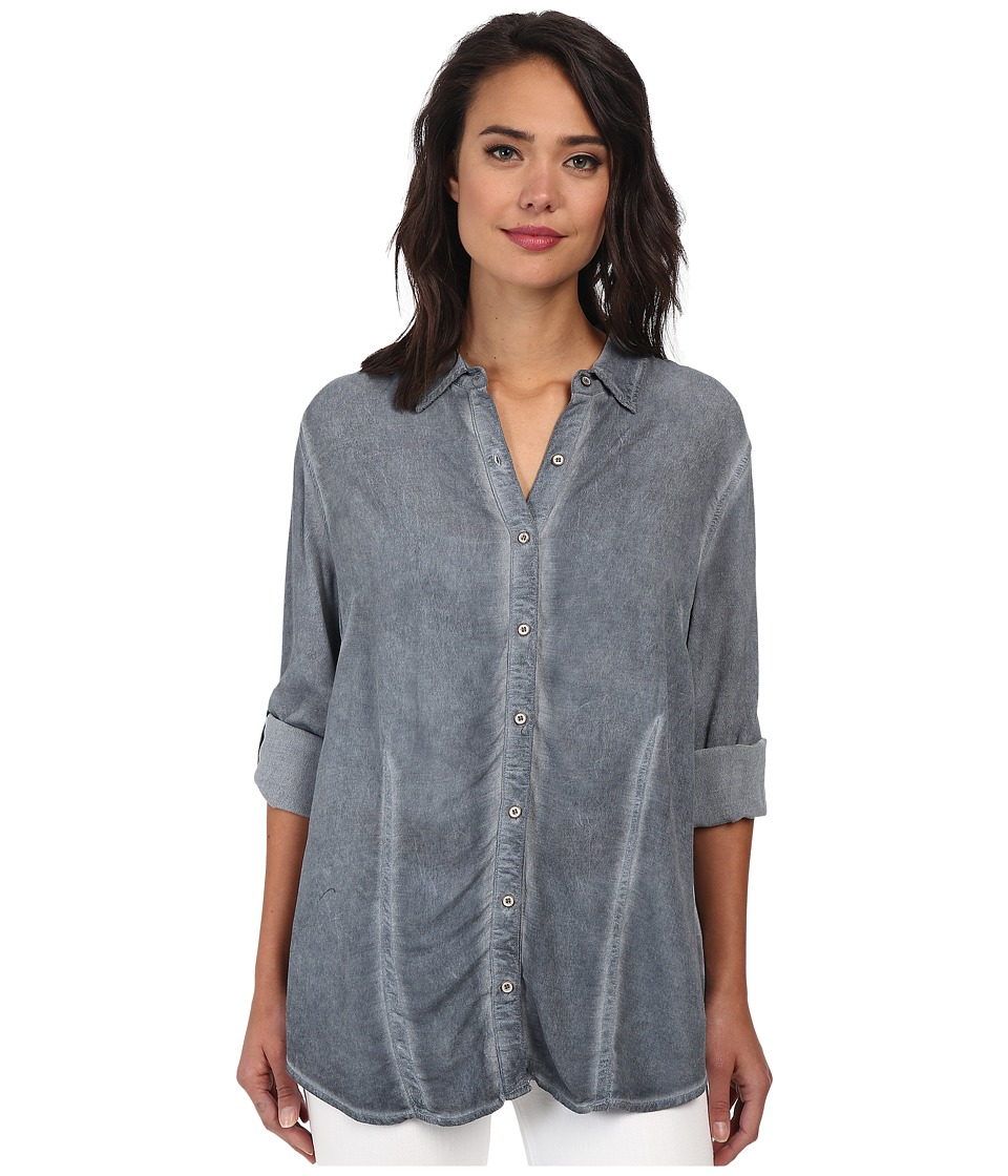 Christin Michaels - Hailey Button-Down Shirt (Ocean) Women's Clothing
