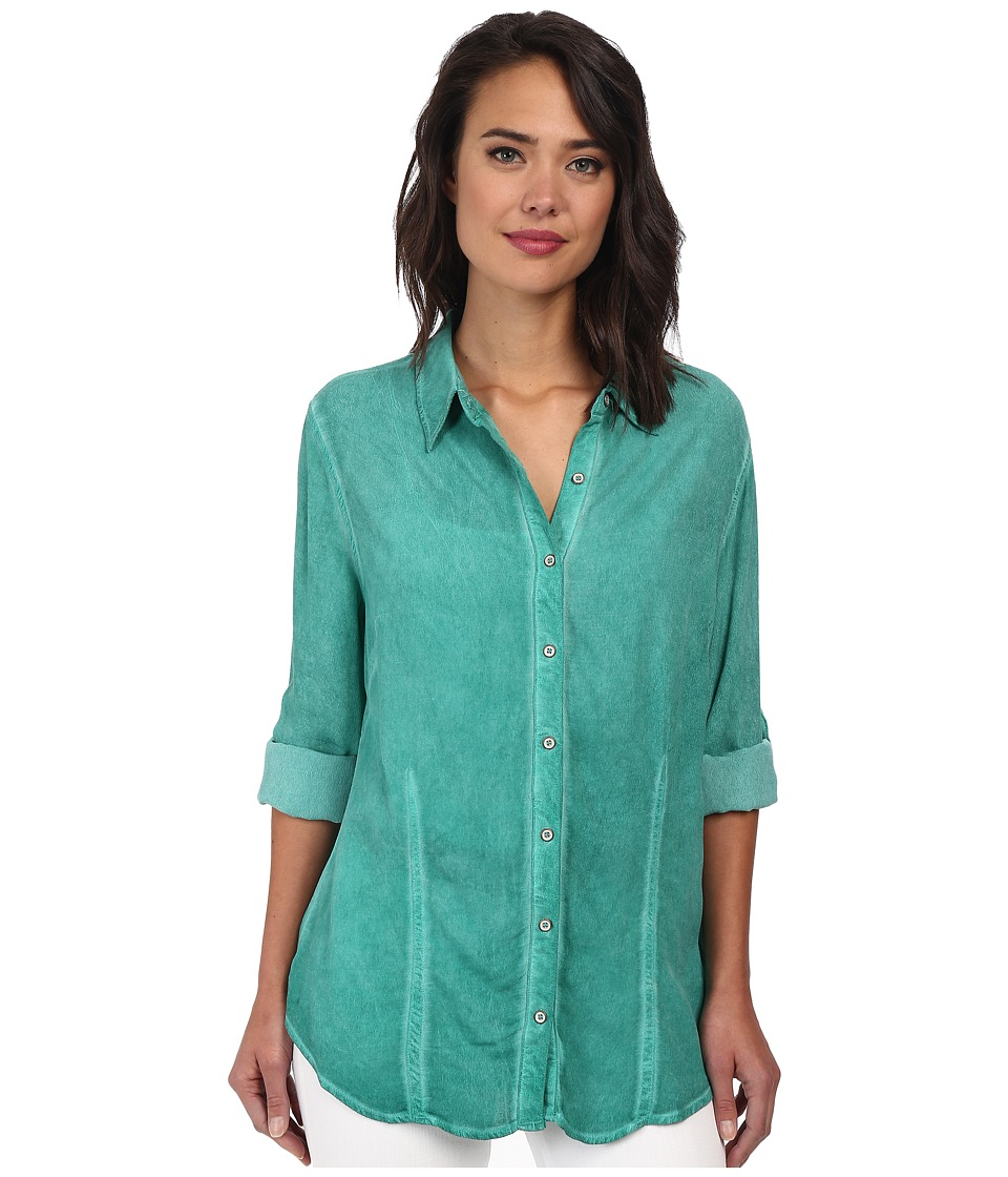 Christin Michaels - Hailey Button-Down Shirt (Jewel) Women's Clothing
