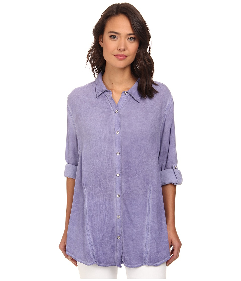 Christin Michaels - Hailey Button-Down Shirt (Lilac) Women's Clothing