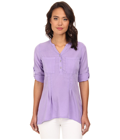 rsvp - Tencel Henley Top (Lilac) Women's Clothing