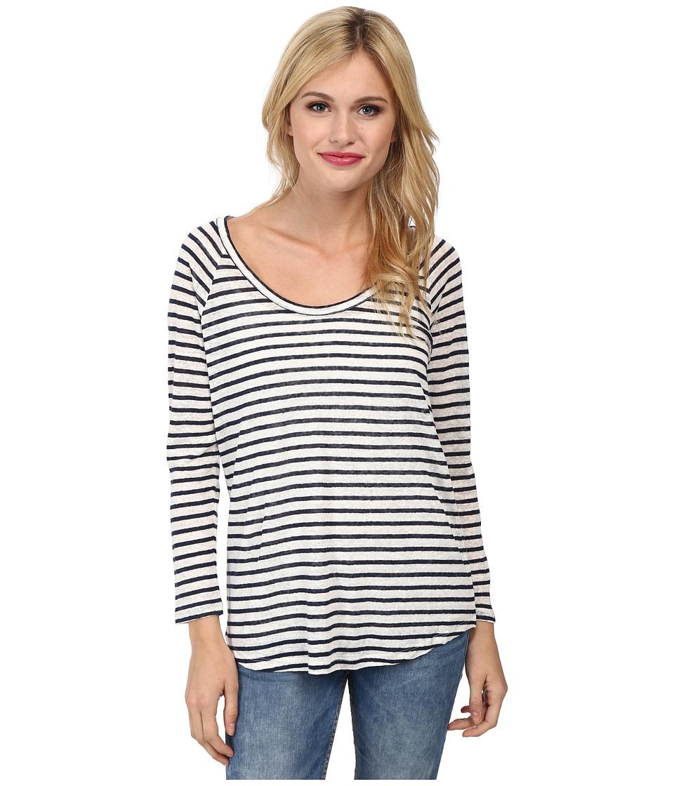 Paige - Sandy Top (White Dark Ink Blue Stripe) Women's Clothing