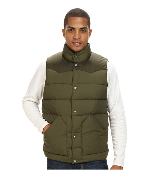 Penfield - Beekman Vest Contrast Yoke Down Vest (Olive) Men