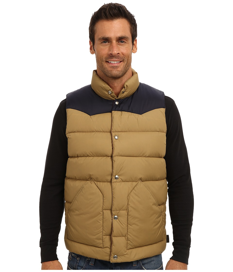 Penfield - Beekman Vest Contrast Yoke Down Vest (Tan) Men's Vest