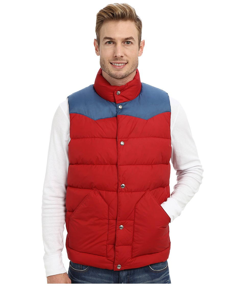 Penfield - Beekman Vest Contrast Yoke Down Vest (Deep Red) Men's Vest