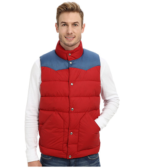 Penfield - Beekman Vest Contrast Yoke Down Vest (Deep Red) Men