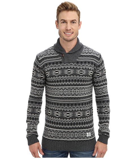 Penfield - York Shawl Collar Sweater (Grey) Men