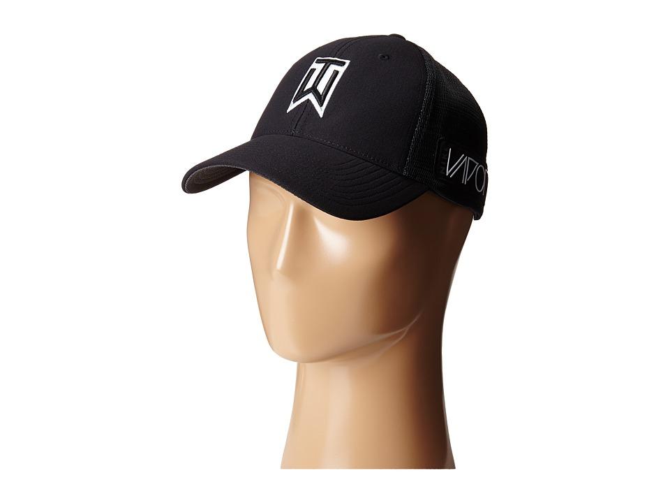 Nike Golf - TW Tour Legacy Mesh Cap (Black/Black/Black) Caps