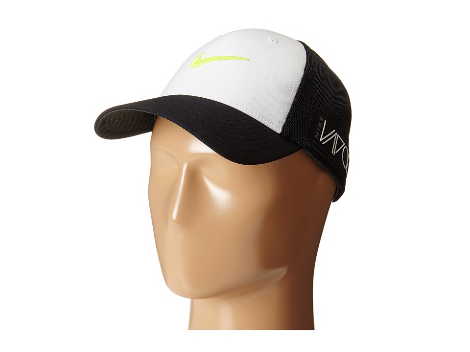 Nike Golf - Tour Legacy Mesh Cap (White/Black/Volt) Caps