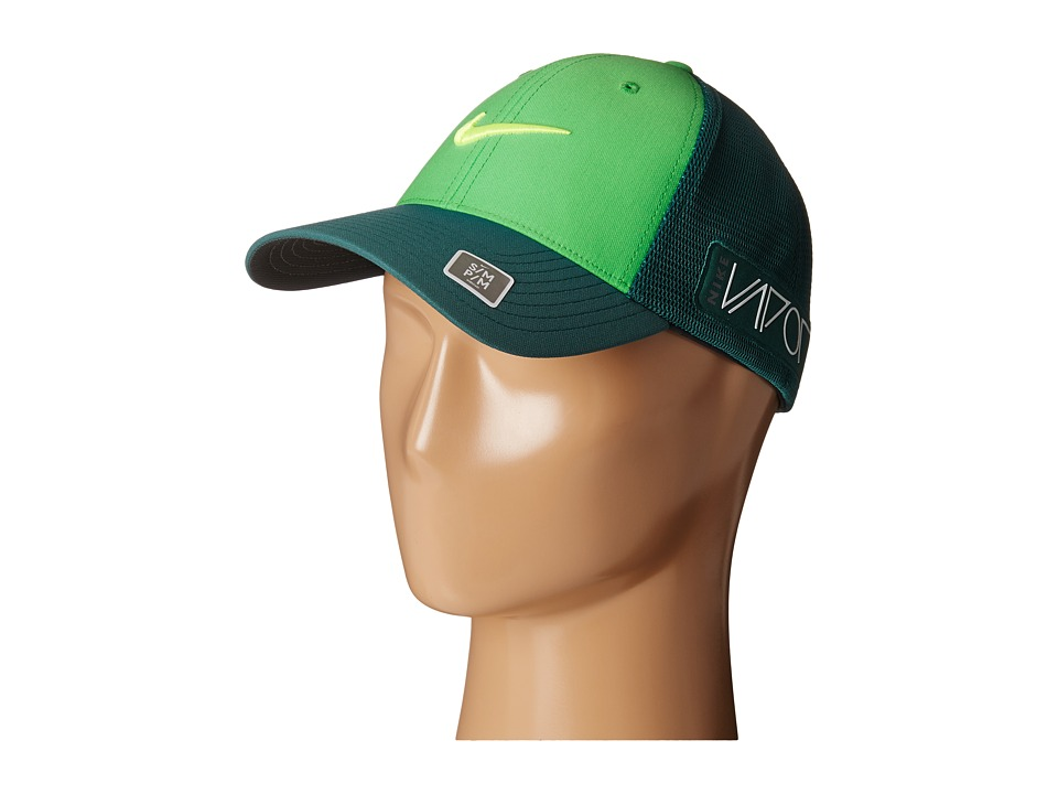 Nike Golf - Tour Legacy Mesh Cap (Lt Green Spark/Dark Emerald/Volt) Caps