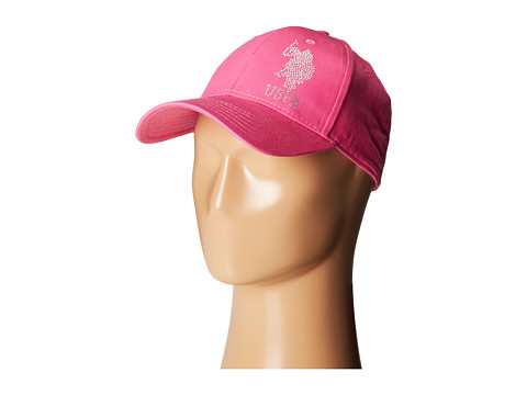 U.S. POLO ASSN. - Large Solid Horse/#3 Unconstructed Adjustable Baseball Cap (Pink) Baseball Caps