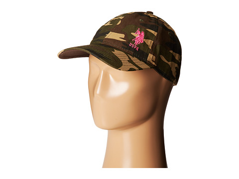 U.S. POLO ASSN. - Camo Adjustable Baseball Cap (Camo) Baseball Caps