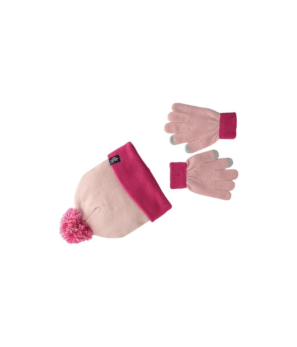 U.S. POLO ASSN. - Two-Tone Cuffed Beanie Touch Glove Set (Pink) Knit Hats