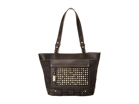 Nine West - Mini Vegas Signs Tote (Black/Black) Tote Handbags