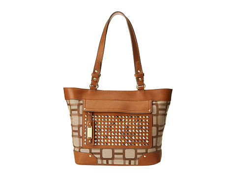 Nine West - Mini Vegas Signs Tote (Khaki Combo) Tote Handbags