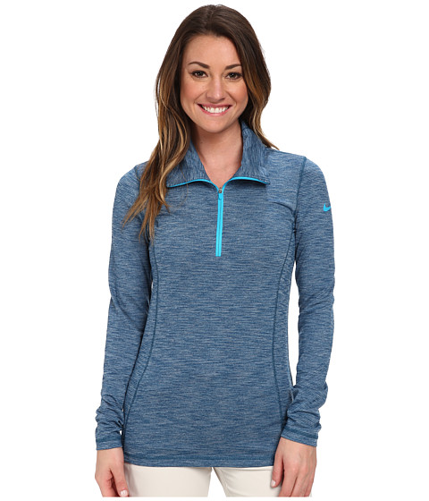 Nike Golf - Hyperflight 1/2-Zip (Blue Force/Blue Lagoon/Blue Lagoon) Women's Long Sleeve Pullover
