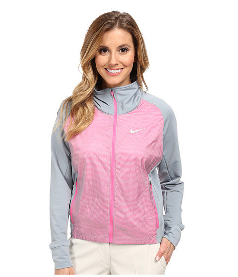 Nike Golf - Long Links Jacket (Dove Grey/Pink Pow/Pink Pow/Metallic Silver) Women