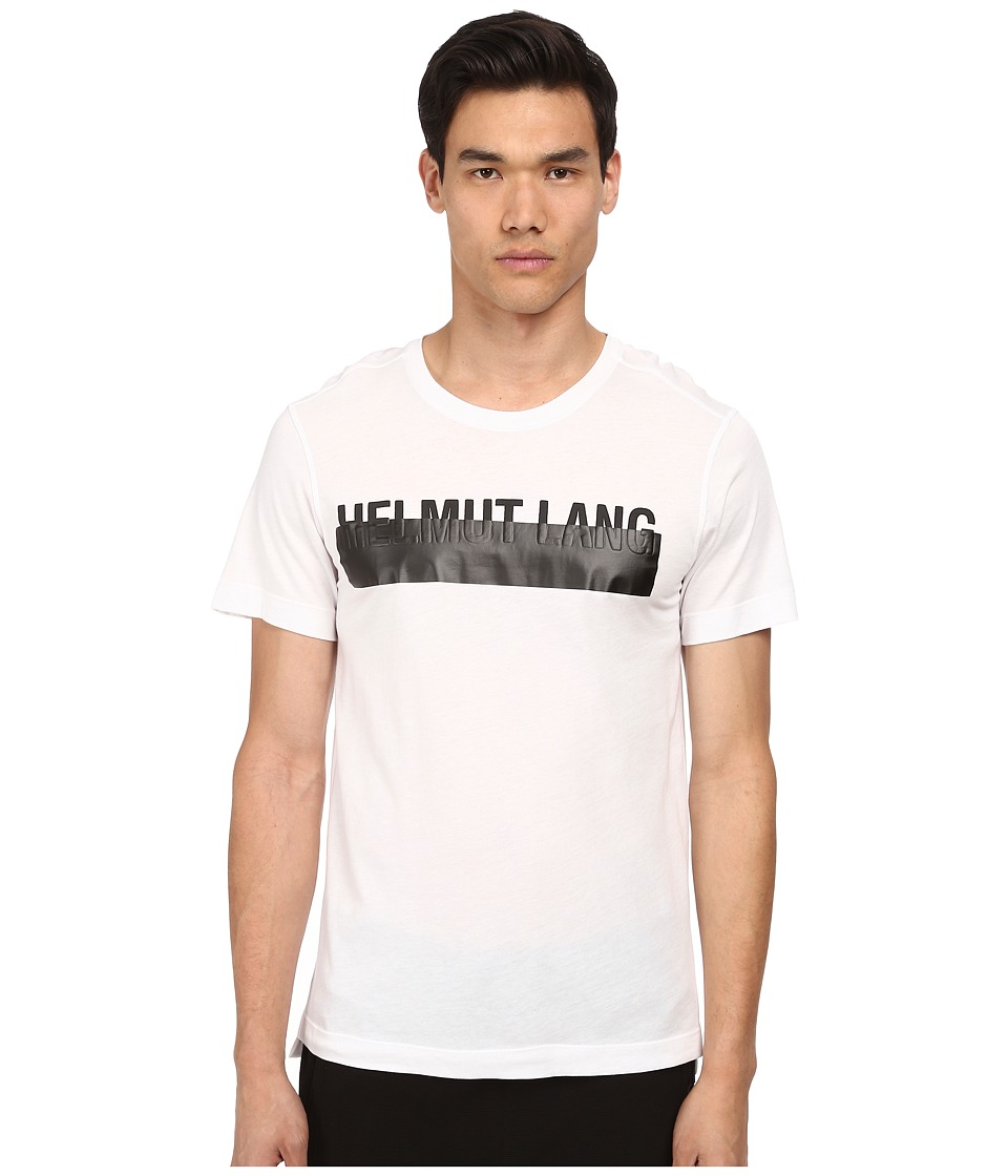 HELMUT LANG - Jersey Logo Tee (White/Black) Men