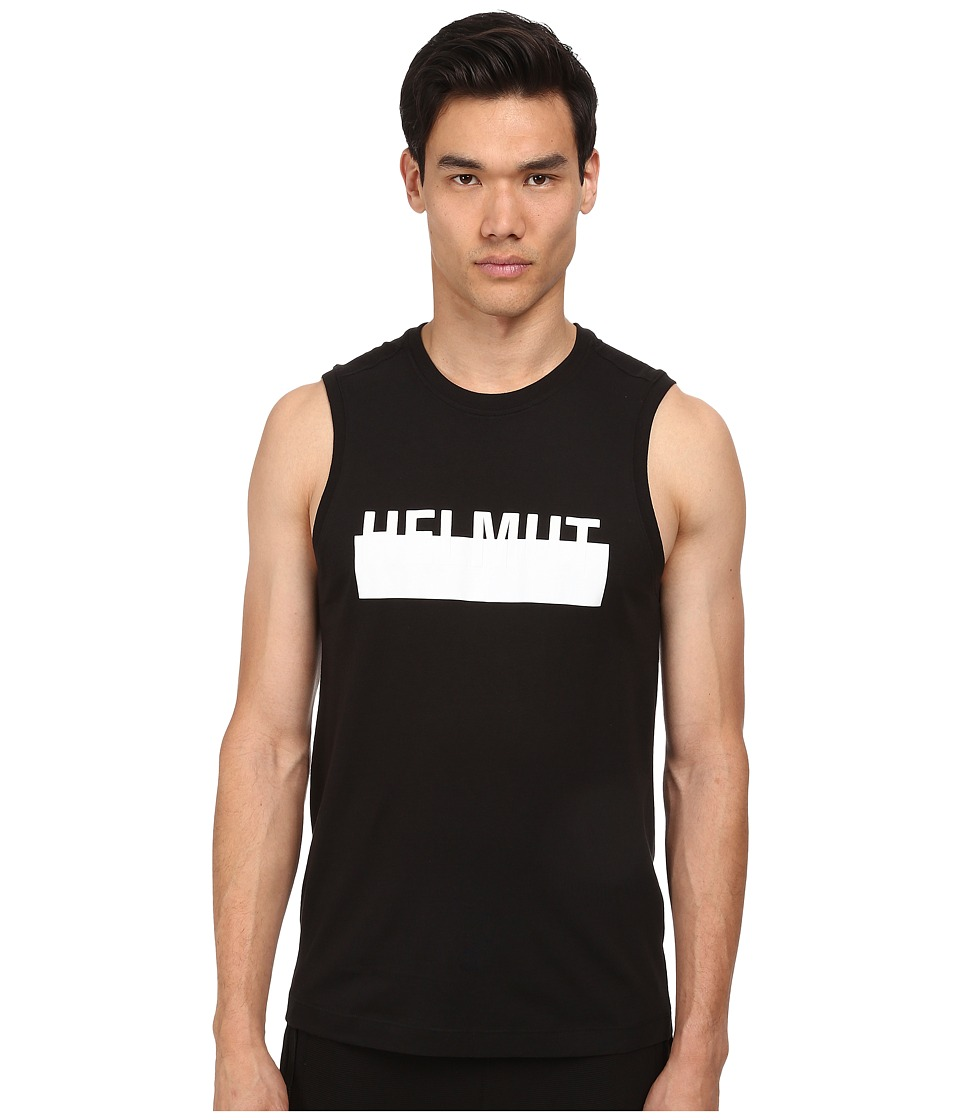 HELMUT LANG - Jersey Logo Tank (Black/White) Men's Sleeveless