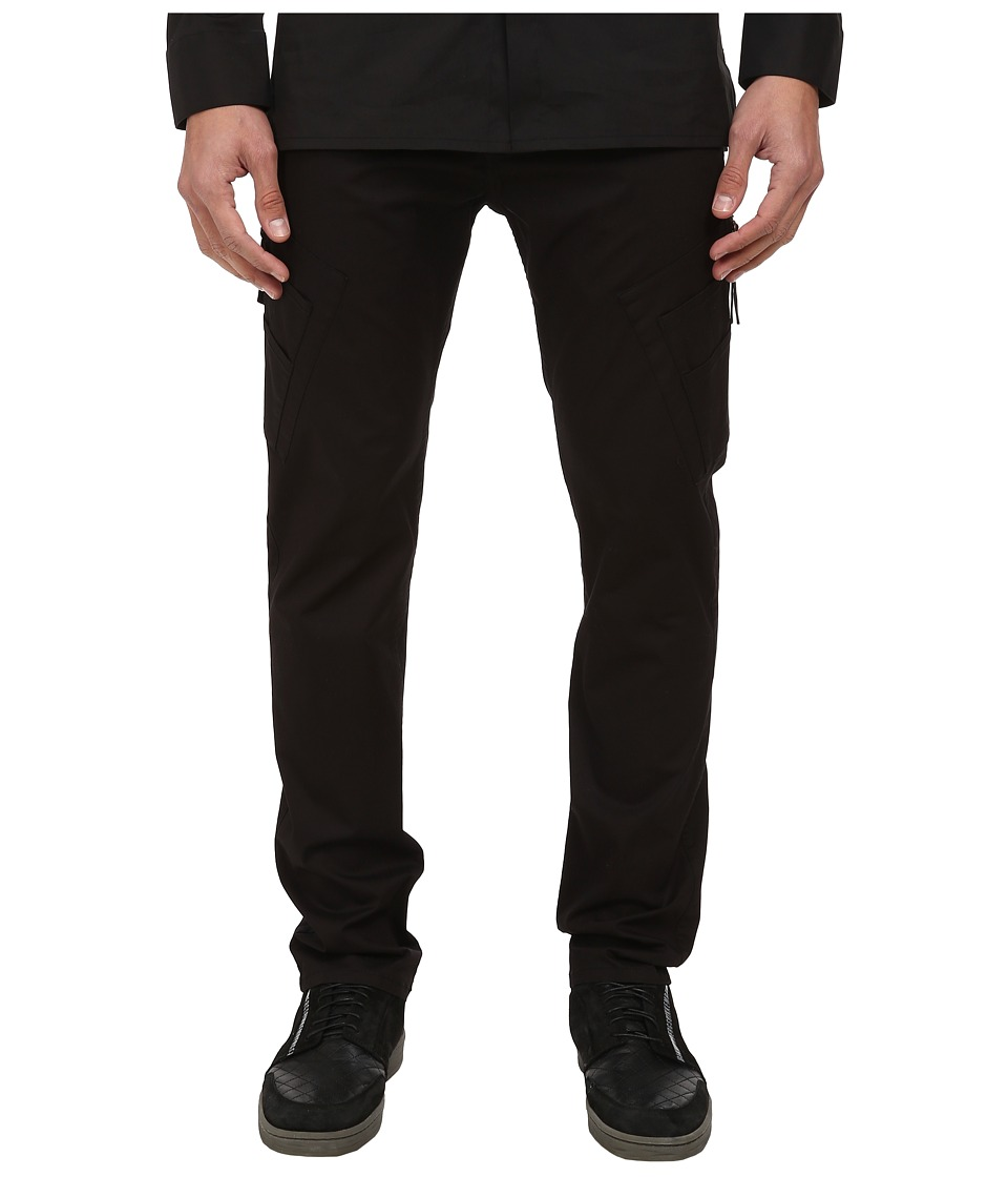 HELMUT LANG - Compact Chino Curved Leg Cargo Pant (Black) Men's Casual Pants