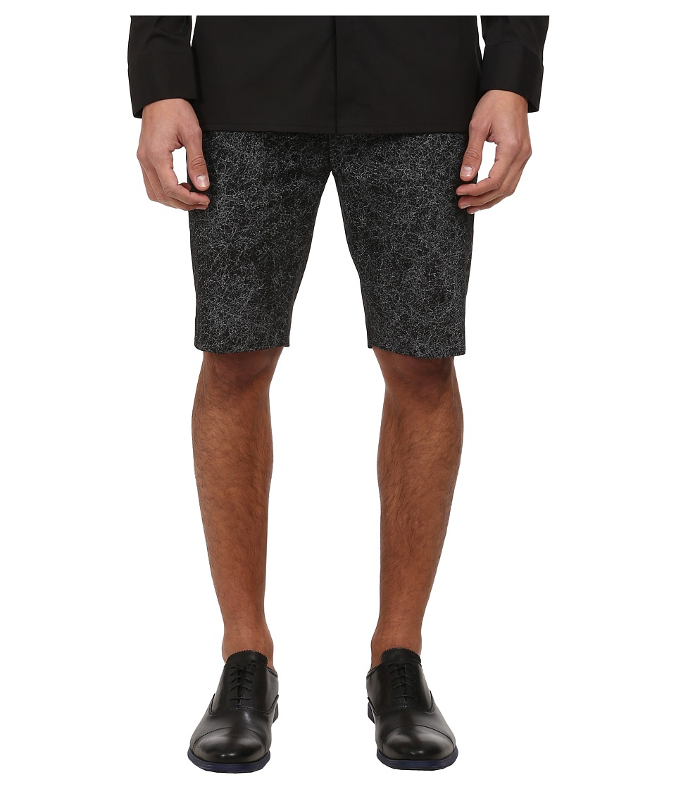 HELMUT LANG - Distorted Effect Canvas Short (Black Multi) Men's Shorts
