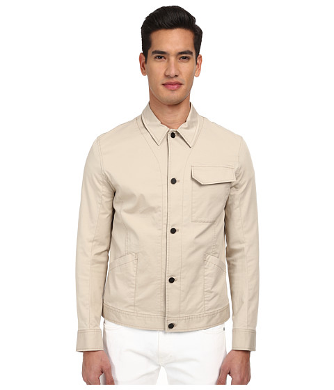 HELMUT LANG - Compact Chino Patch Pocket Jacket (Sand) Men's Coat