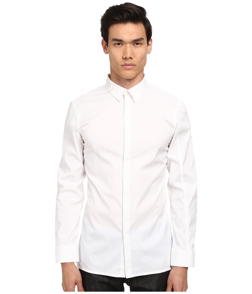 HELMUT LANG - Luxe Shirting Double Collar Shirt (Optic White) Men