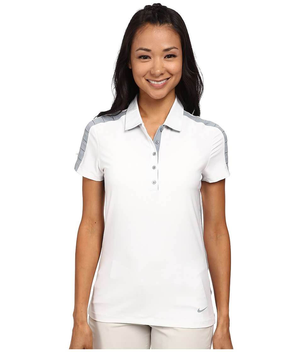 Nike Golf - Seasonal Mesh Polo (White/Dove Grey/Dove Grey) Women's Short Sleeve Pullover