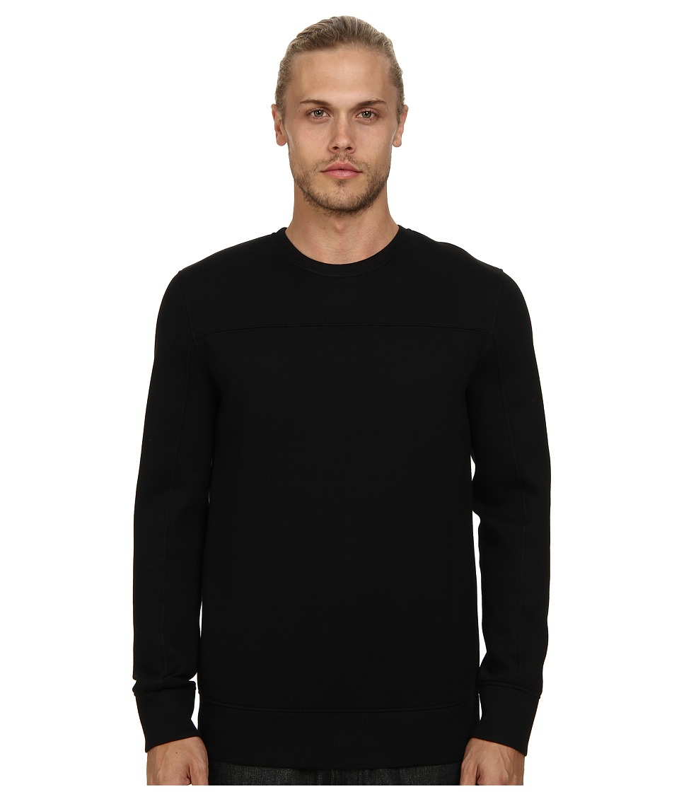 HELMUT LANG - Sponge Fleece Combo Sweatshirt (Black) Men's Sweatshirt