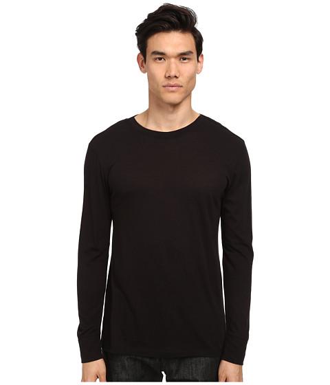 HELMUT LANG - Spring Jersey Basic L/S Tee (Black) Men's T Shirt
