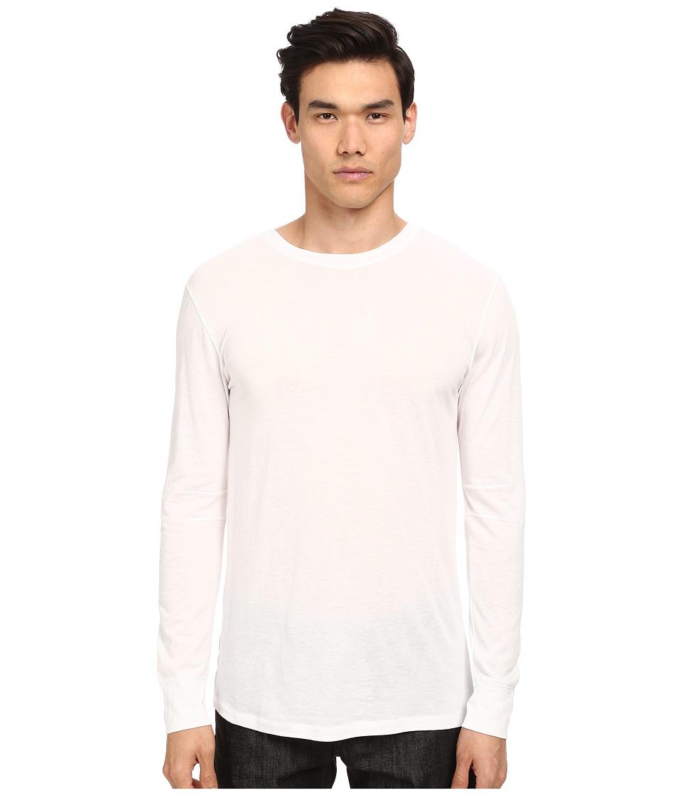 HELMUT LANG - Spring Jersey Basic L/S Tee (White) Men
