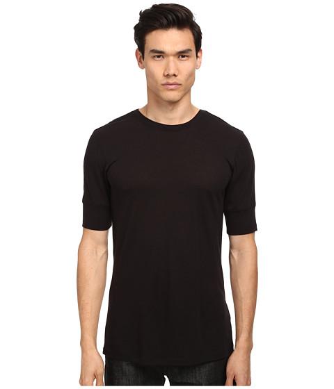 HELMUT LANG - Spring Jersey Basic SS Tee (Black) Men's T Shirt
