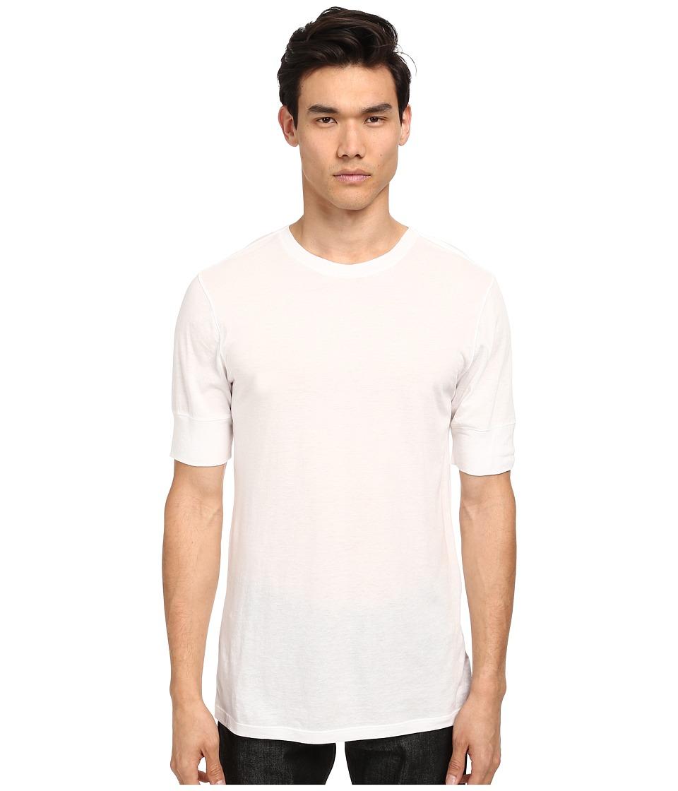 HELMUT LANG - Spring Jersey Basic SS Tee (White) Men's T Shirt