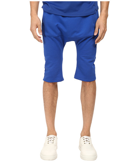 HELMUT LANG - Base Terry Crop Sweatpant (Electric Blue) Men's Casual Pants