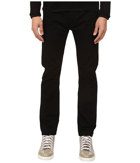 HELMUT LANG - Overdye Black Wash Skinny Jean (Black) Men