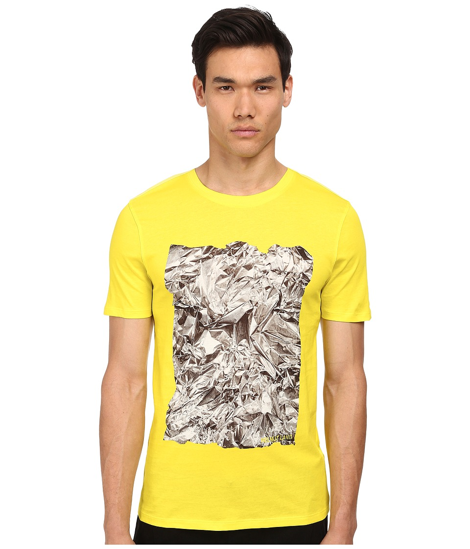 HELMUT LANG - Crumpled Print Jersey S/S Tee (Acid Yellow) Men