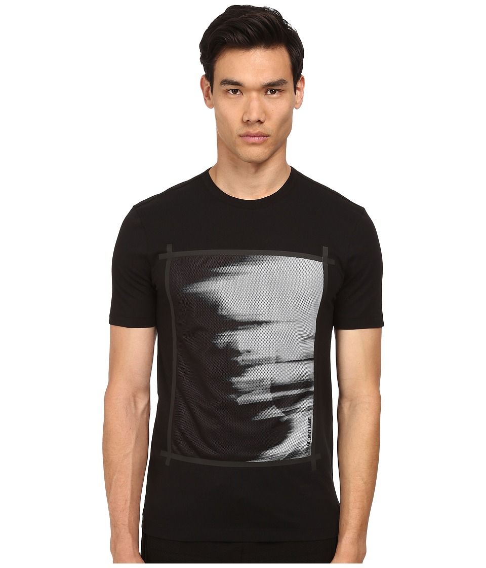 HELMUT LANG - Ghost Print Mesh Base Tee (Black/White) Men's T Shirt