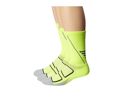 Feetures - Elite Light Cushion Crew 3-Pack (Reflector/Black) Crew Cut Socks Shoes