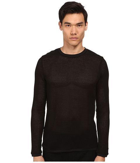 HELMUT LANG - Open Mesh L/S Tee (Black) Men
