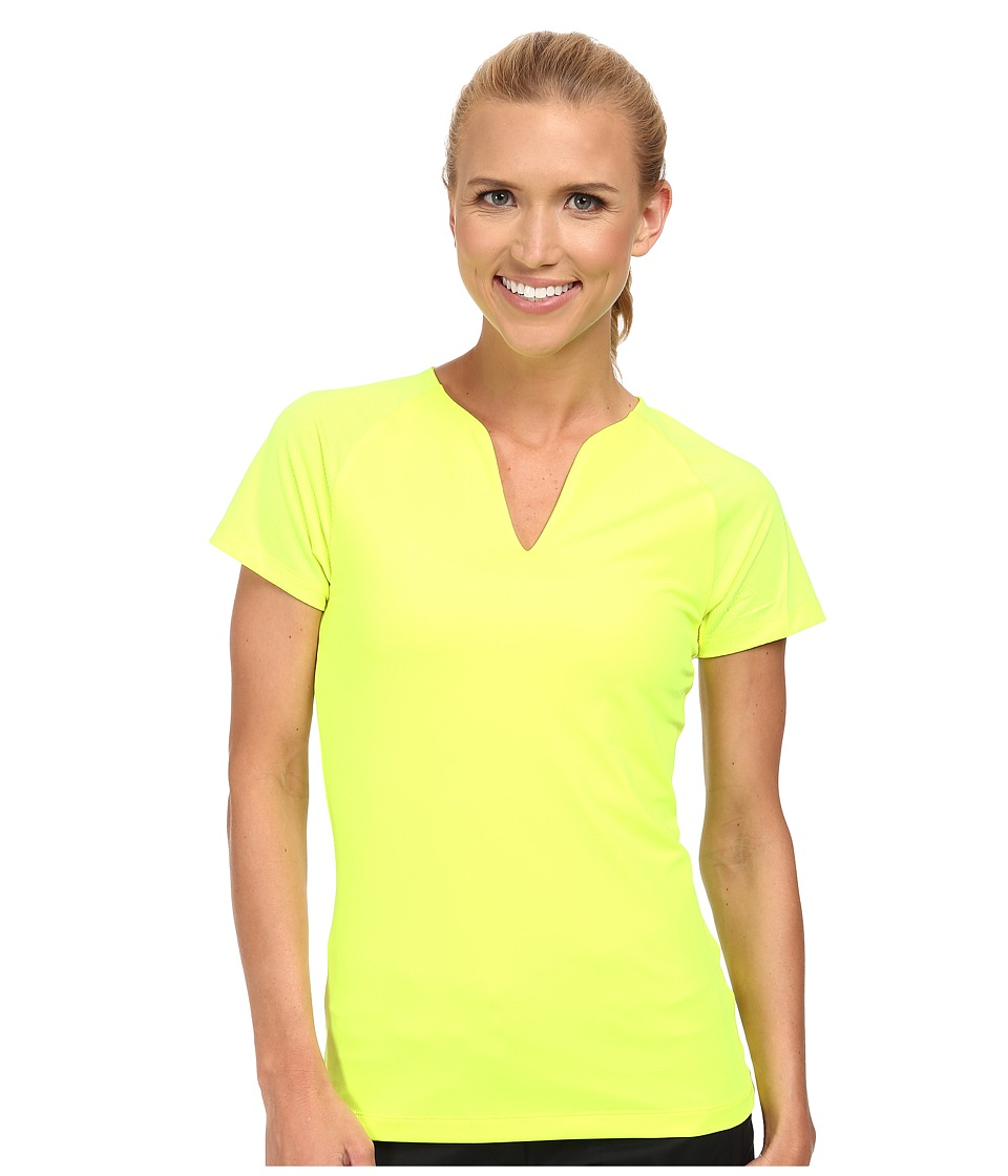Nike Golf - Tour Mesh Top (Volt/Wolf Grey) Women's Short Sleeve Pullover