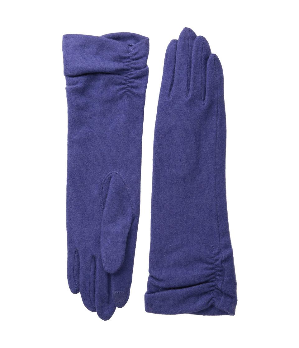 Echo Design - Touch Long Rouched Glove (Iris) Dress Gloves