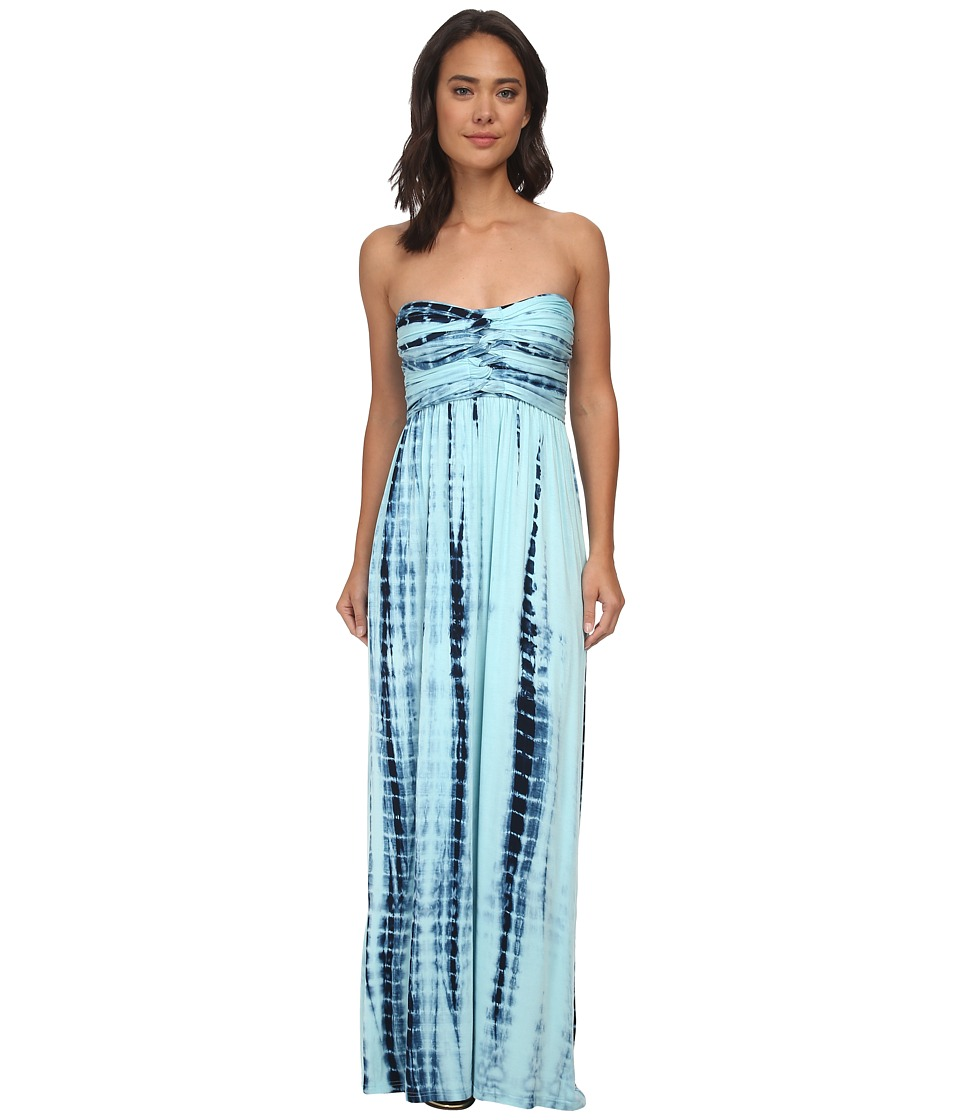 Culture Phit - Liliana Maxi Dress (Baby Blue Tie-Dye) Women's Dress