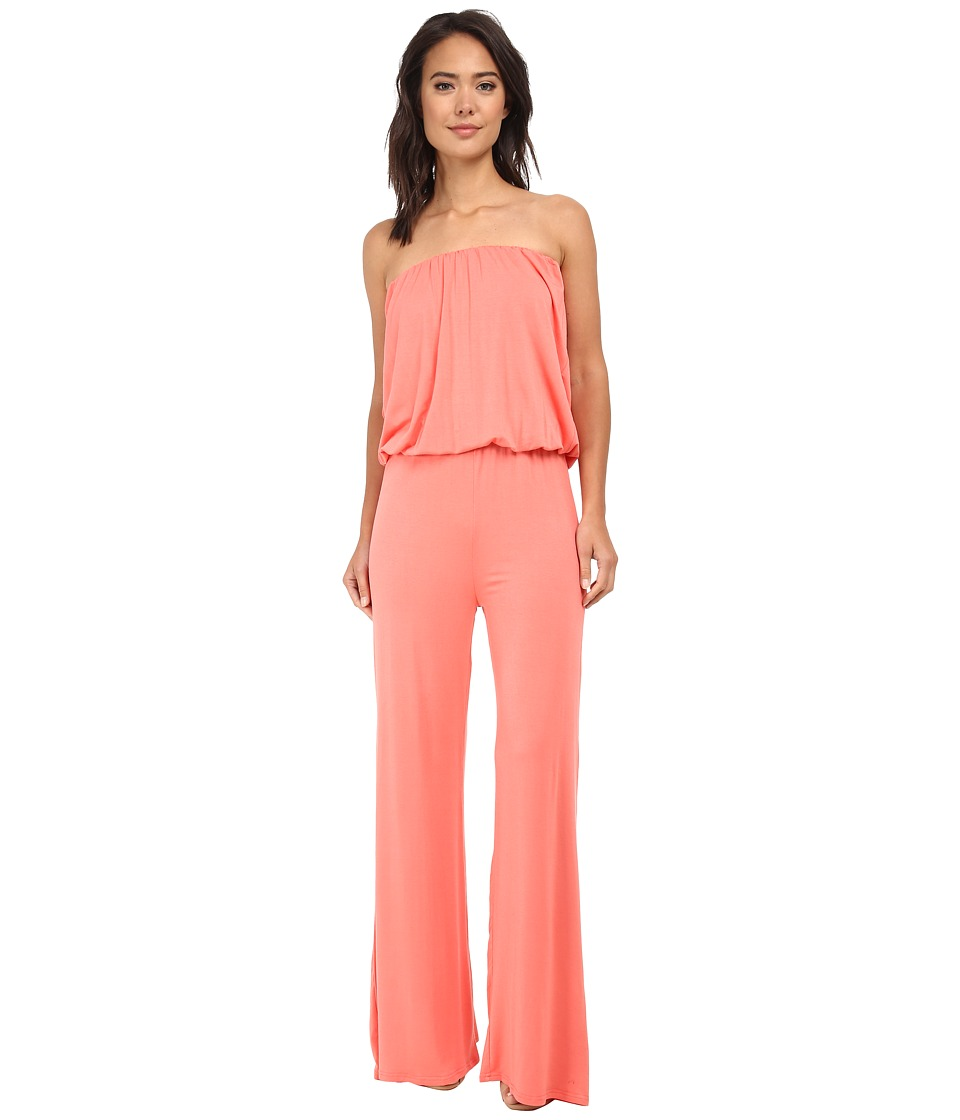 Culture Phit - Strapless Boyfriend Jumper (Coral) Women's Jumpsuit & Rompers One Piece