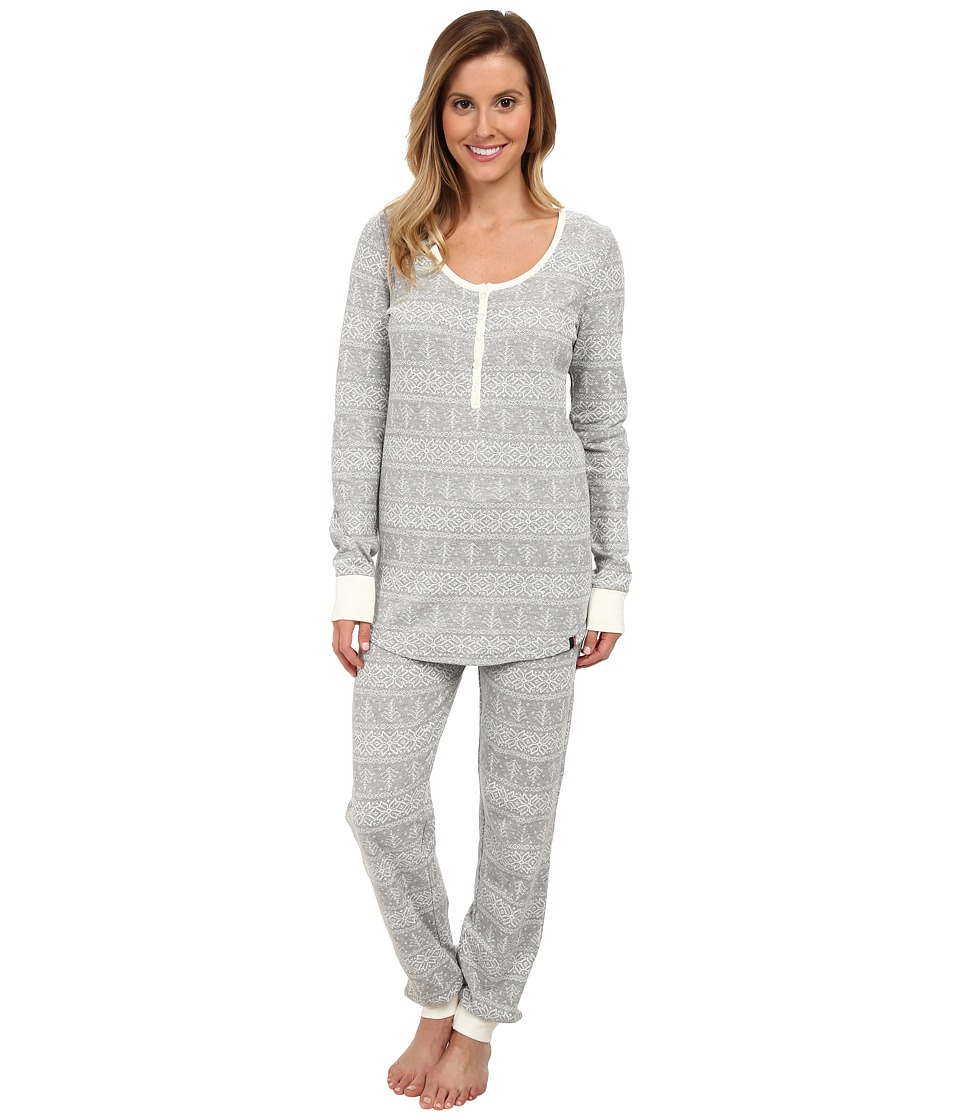 Tommy Hilfiger - Thermal Set (Heather Grey Fairisle) Women's Pajama Sets